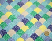 Riley Blake Designs, Hipster, Scallop Blue Fabric, Shannon Lamden, Designer Cotton Quilt Fabric, Quilting Fabric