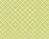 COUPON CODE SALE - Riley Blake Designs, Summer Breeze, Fish Tail, Green, Bella Blvd, 100% Cotton Quilt Fabric, Geometric Quilting Fabric