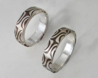 Two Rings Mokume plus Shipping
