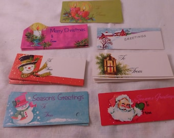 Fun and Adorable Large Lot of 25 Vintage Christmas Paper Tags