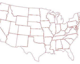 State cut out of your choice, pick from the 48 states,  FREE shipping.