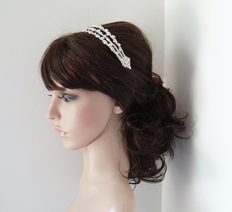 Wedding Hairstyles Headband: Rhinestone Wedding Headband Bridal Hair Piece Headbands