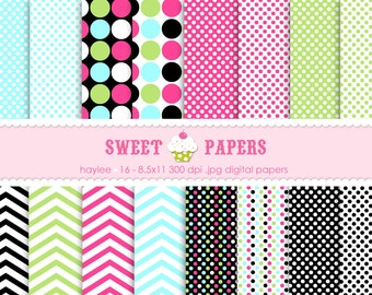 Haylee Digital Paper Pack - Commercial or Personal Use - By Sweet Papers