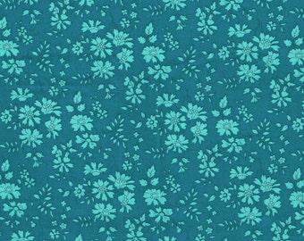 Liberty Fabric Capel D Teal Tana Lawn Half Yard
