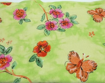 lime green stretchy fabric floral butterfly sewing crafting project, costume