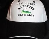 Embroidered Baseball Hat- Golf- SALE