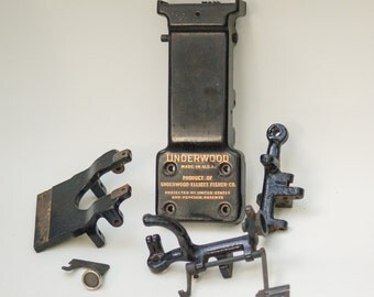 Antique Underwood Typewriter Parts Tabulator Mechanism Assorted #9 Steampunk Restoration Altered Art