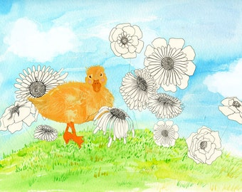 Yellow duck in Flowery Kingdom