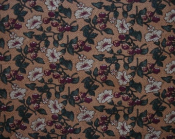 FLORAL 1 Yard Strawberry Jam by Kansas Troubles for Moda Fabric - #F12 Available for a Caddie
