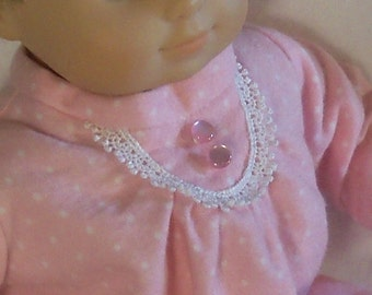15 inch  Doll Pink Gown