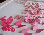 8x10 Sample 3D Layered Butterfly Art in YOUR CHOICE of Colors or Single Ombre Color Family. Option to Personalize at Bottom. Made to Order