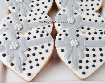 Elegant Heart Cookies 1 dozen