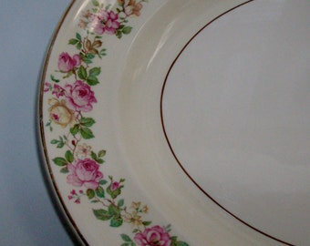 Luxury Bouquet Large Oval Serving Platter by Heritage (Code v)