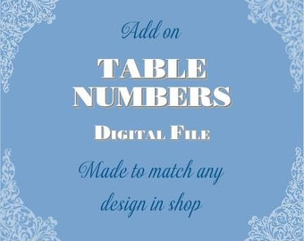 Table Numbers 1-10    Printable Digital File