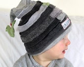 Grey Wool and Knit Pixie Beanie Size M Child