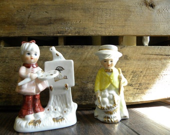 Little Boy and Girl Figurines