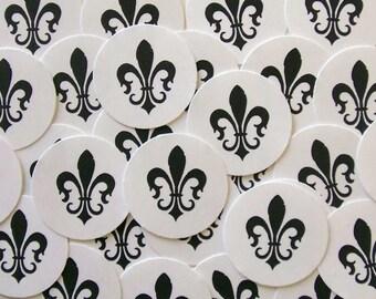 Mardi Gras Stickers Fleur de lis Envelope Seals French Party Favor Treat Bag Sticker SP038