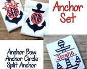 Machine Embroidery Design Applique Anchor Set INSTANT DOWNLOAD
