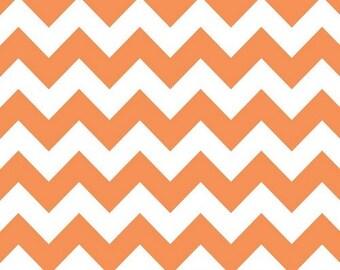 Riley Blake - Medium Chevron Orange - Orange Chevron - 1 yard - multiple yards available