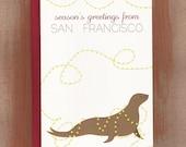 Season's Greetings From San Francisco Seal Holiday Cards (10/box)