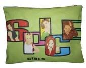 SPICE GIRLS... original drawing clutch purse with zipper