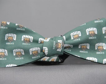"Ohio Bobcat ""Attack Cat""  Bow Tie"