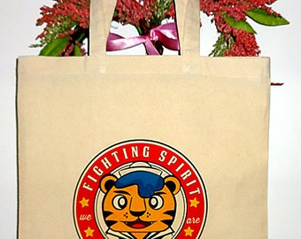 Fighting Spirit, Sailor Tiger Tote Bag great for Halloween, Grocery shopping and Books