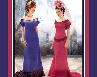 LA BELLE EPOQUE-Stunning Historical Costume Sewing Pattern-Titanic & Late Victorian-Dropped Waist-Fishtail Train-Uncut-Size 12-16- Rare