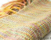 Summer Will Soon be Around, HandWoven Scarf, Pure Wool yarn