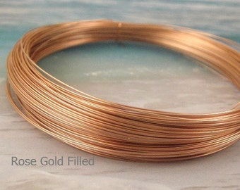 14k Rose Gold Filled Wire Round - Troy Ounce -  22ga g guage DEAD SOFT-  Wholesale Wire Pink Gold filled