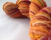 ON SALE - Fallen Leaves - millspun yarn, worsted weight