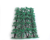 Plastic Trees for Dioramas / Destash Craft Supply / 4 inches Tall