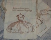 Fairy Tale Favor Bags-Bridal Shower Favor Bags-Wedding Drawstring Gift Bags-Wedding Shower Favor Bags- Bridal Shower  Muslin Bags -Set of 10