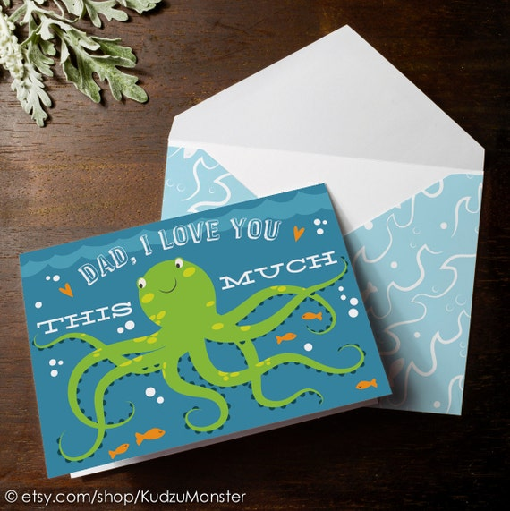Instant download octopus i love you this much father 39 s day - I love you daddy download ...