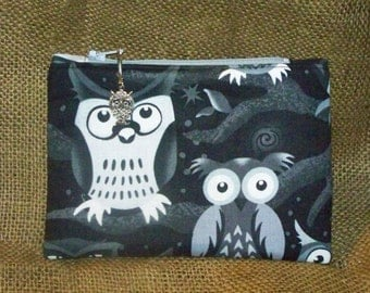 Owl Zippered Pouch