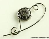 Silver Scarf Pin, Shawl Pin, Jewelry Brooch - Scarf Accessory, Knitting Accessory, Knitting Pin, Gift for Knitters