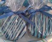 Dark Blue and Light Blue Chocolate Covered Oreos Cookies Blue and White Edible Party Favors Baptism Christening It's a Boy Cookies - Sweettoothsweetie