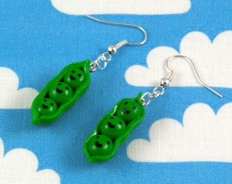 Peapod Earrings Kawaii Polymer Clay