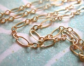 Shop Sale.. 3 feet, 14kt 14k GOLD Fill Chain, Long and Short Cable, 5x2.5 mm, 10-20% less, wholesale unfinished MMGF MGF5