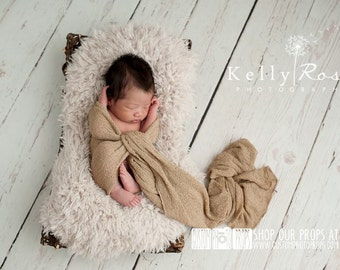 Newborn Photo Props, Hazelnut Brown Stretch, Newborn Baby Photo Prop, Swaddling, Newborn Photography Prop, Baby Props, Nubble, Boy Props