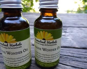 Migraine Wonder Oil - natural massage oil (1 oz)