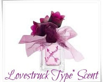 LOVE STRUCK Scented Soy Wax Melts - Ver@ Wang Type* Scent - Wickless Candle -  Air Freshener - Highly Scented - Hand Poured In USA