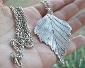 Leaf Necklace Silver Leaf Necklace Silver Leaf Pendant Aspen Leaf Necklace Leaf Jewelry Falling Leaf Jewelry