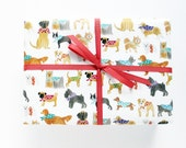 Gift Wrap - Polka-dot Dogs Wrapping Sheets