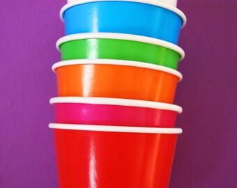 Rainbow Ice Cream Cups or Treat Cups 12 Frozen yogurt cups, sundae cups