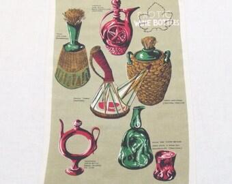 Irish Linen Towel Exotic Wine Bottles