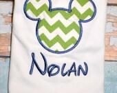 Chevron Mickey Mouse Shirt, Boys Mickey Mouse Shirt, Boys Shirt, Boys birthday shirt