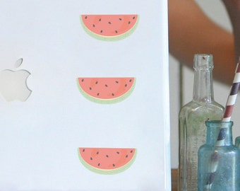ON SALE Mini Fabric Wall Decal - Watermelons (reusable) No PVC