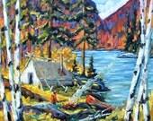 Cookin The Catch Original Landscape by Prankearts