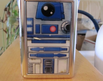R2D2 Cigarette or Card Case or Wallet or Tin